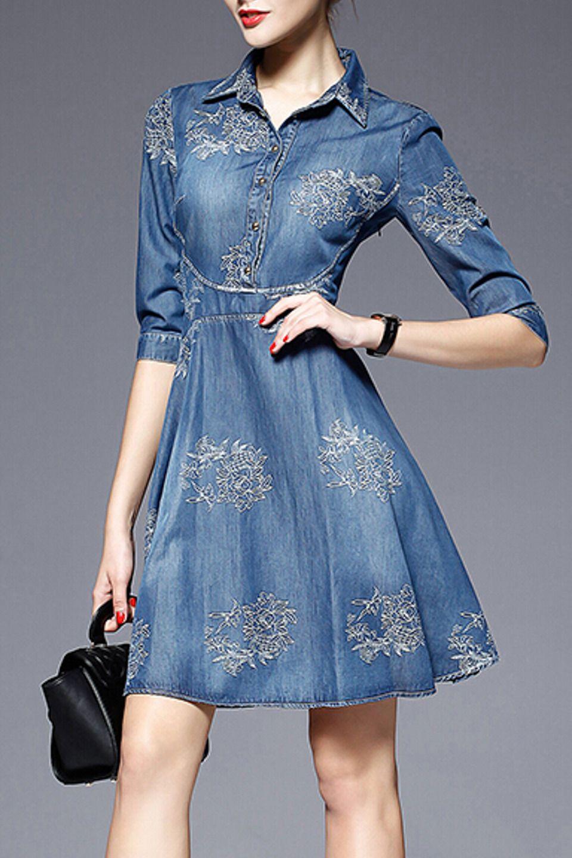 Hannou georgia dress in blue vêtements pinterest