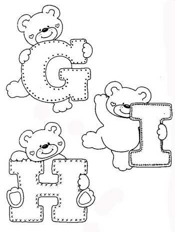 Desenhos Alfabeto Ursinhos Enfeite Sala De Aula Infantil 2