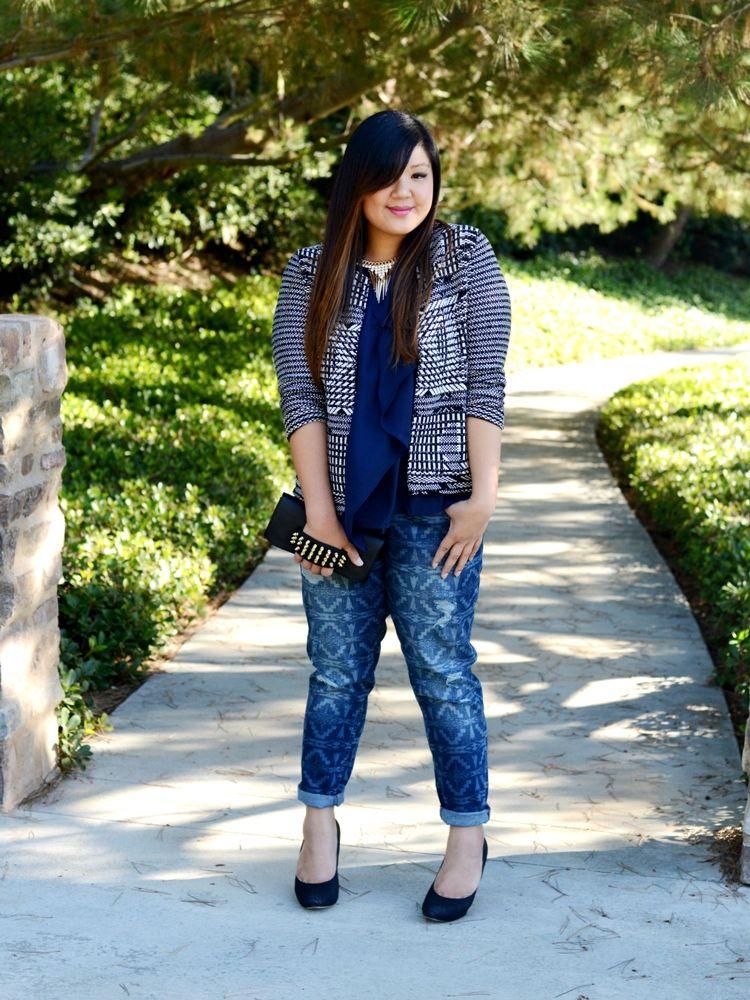 1000  images about Blue Jeans on Pinterest | Boyfriend jeans, Plus ...