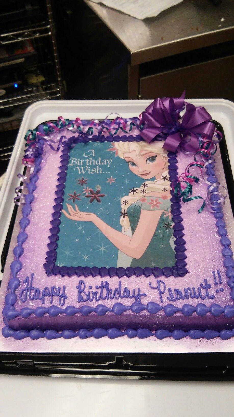 Frozen/Elsa Themed Sheet Cake                                                                                                                                                                                 More