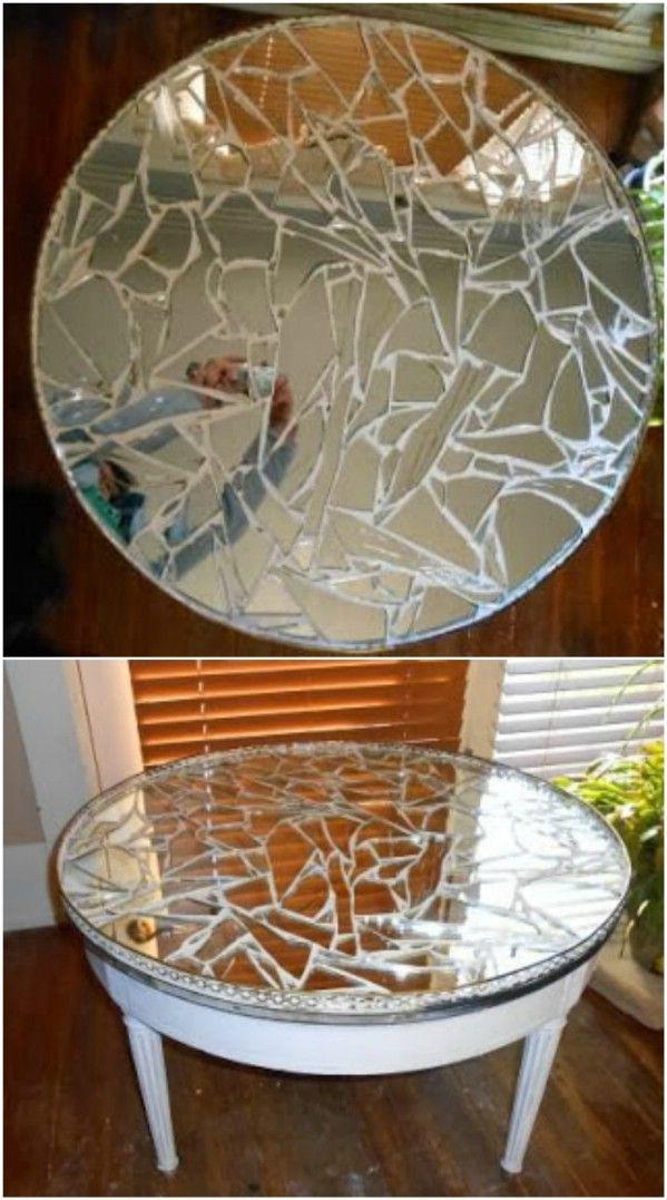 Mosaic Mirror Table Mosaic Furniture Mirror Crafts Mirror Mosaic