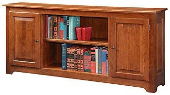 Personalize This Solid Wood Cherry Heritage Bookcase with Doors