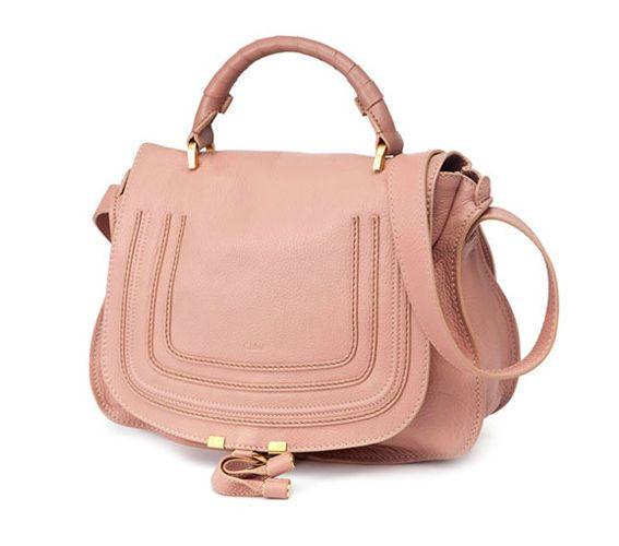 New chloe' marcie medium satchel tote anemone pink cross ...