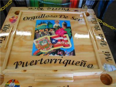 Puerto Rico Handmade Domino Table Puerto Rico Island