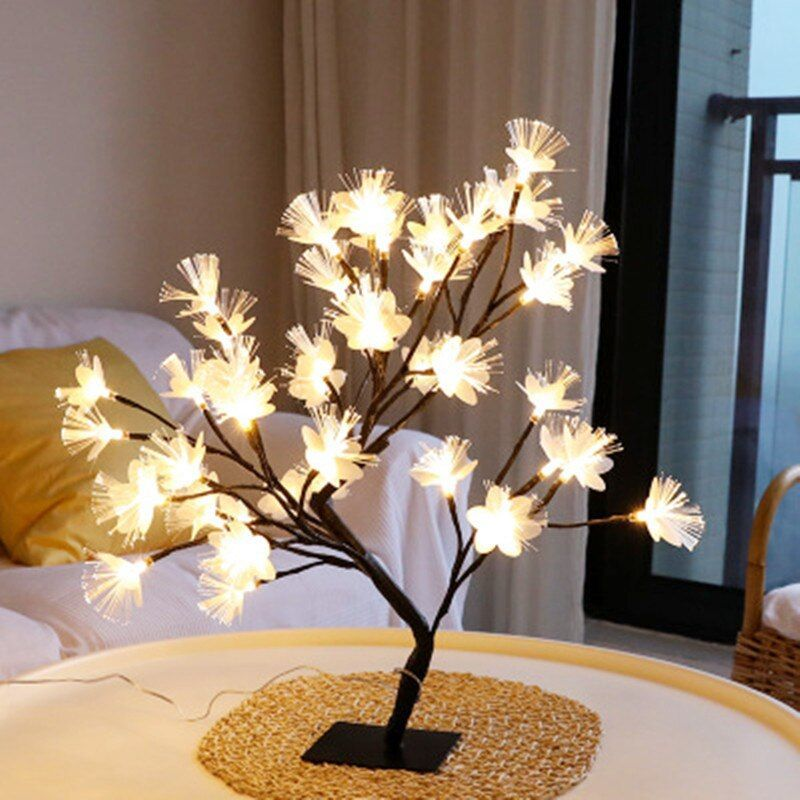 Us 19 25 30 Off Led Cherry Light Table Lamp Christmas Us 19 25 30 Off Led Kirsche Licht T In 2020 Tree Lamp Christmas Party Table Decorations Tree Lighting