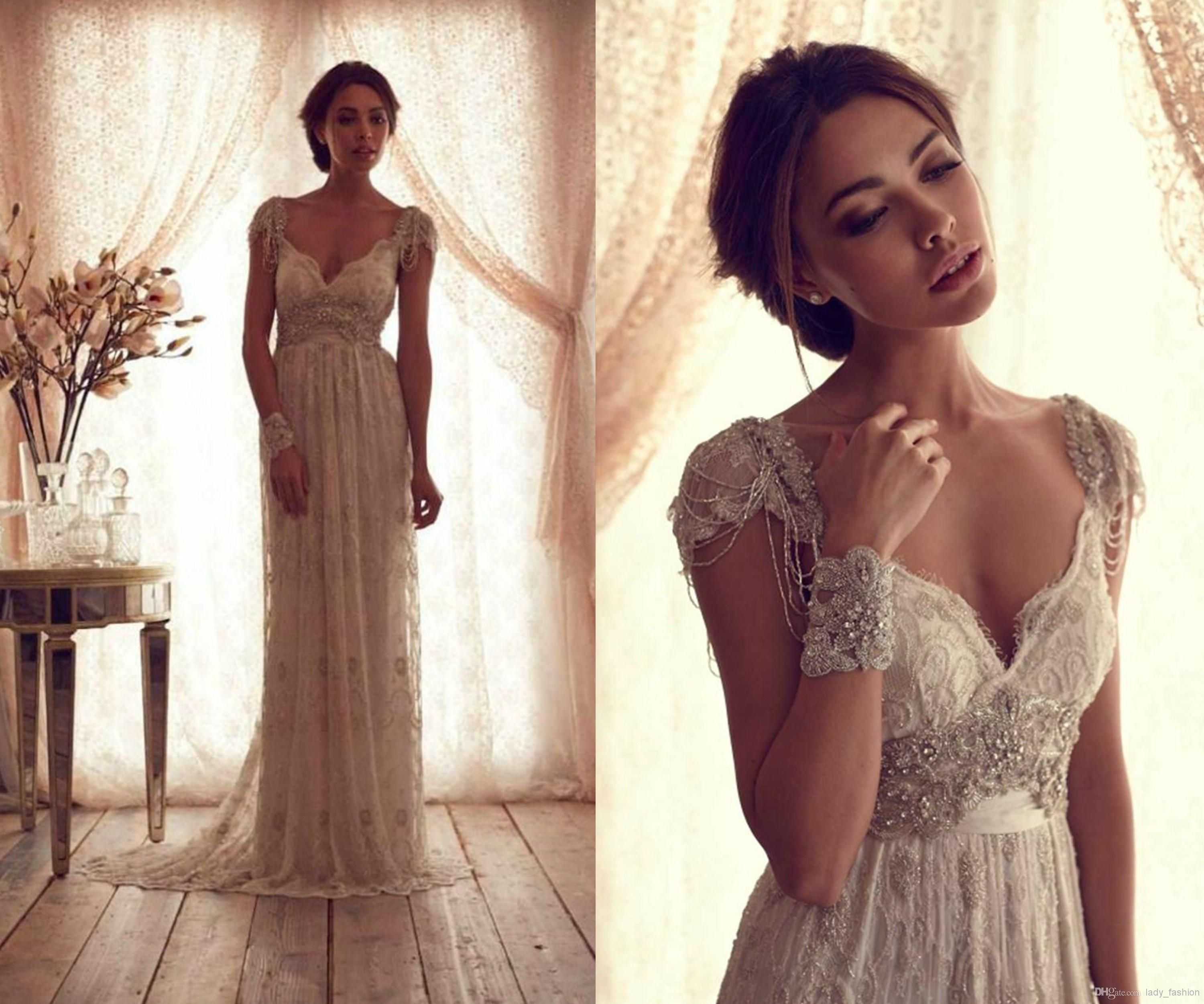 Wholesale Empire Wedding Dresses - Buy 2014 Vintage Plus Size ...