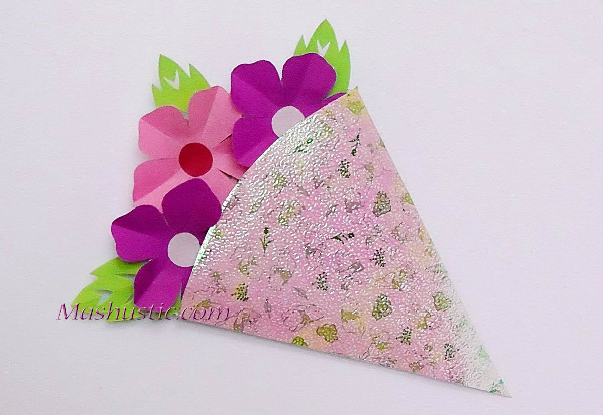 Kids Crafts Small Paper Flower Bouquet Mashustic Com Podelki