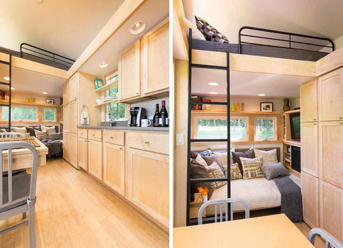 Modern rv interiors - Kelly Davis And Dan George Dobrowolski Escape Traveler Tiny Houses Modern Rv