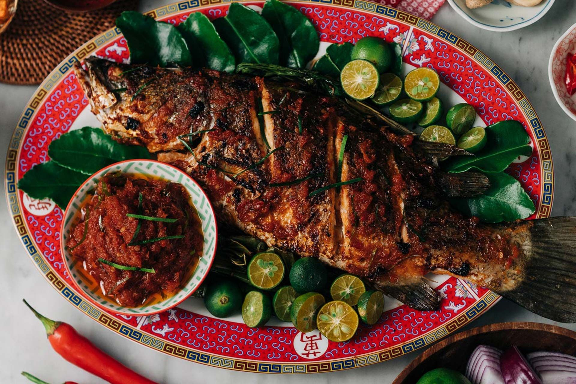 Nonya Style Ikan Bakar Recipe In 2021 Nyonya Food White Rice Recipes Asian Dishes