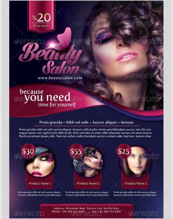 Beauty-Salon-Flyerjpg (600×756) Flyer template Pinterest - hair salon flyer template