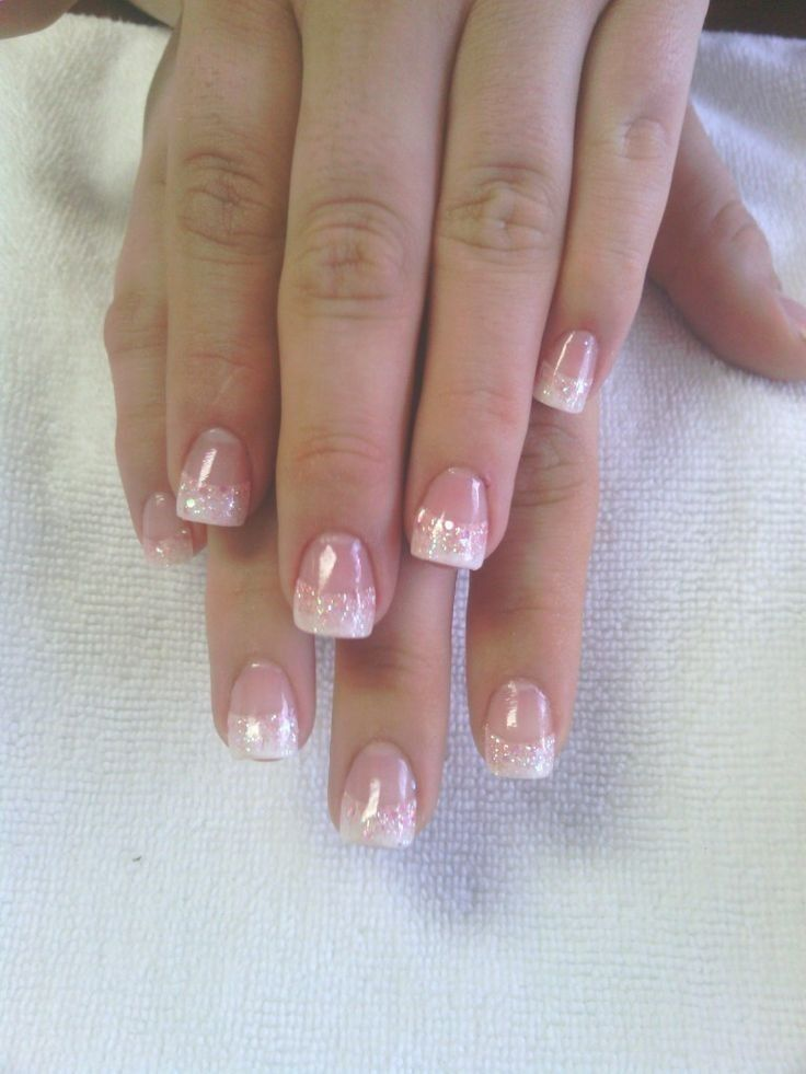 French Tip Nails Stiletto Ideas Wedding nails glitter