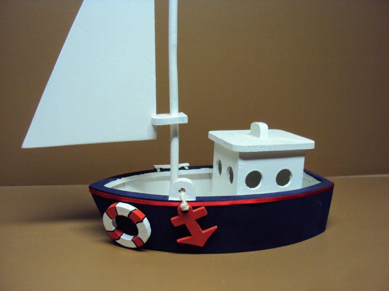 Barco Mdf Enfeite Centro De Mesa Luatebaby Barco De Brinquedo Centro De Mesa Marinheiro Decoração Barco