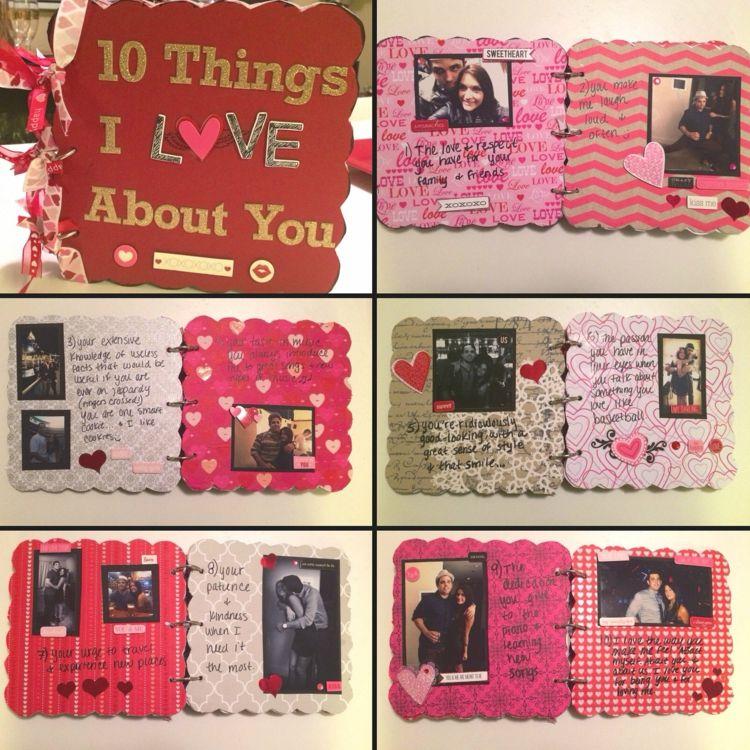Scrapbooking-Ideen-valentinstag-liebe-idee-fotoalbum-rot-rosa