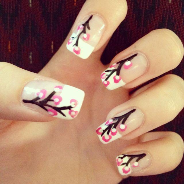 Japanese cherry blossom nails! ❤ | Hair, Nails, & Makeup ...