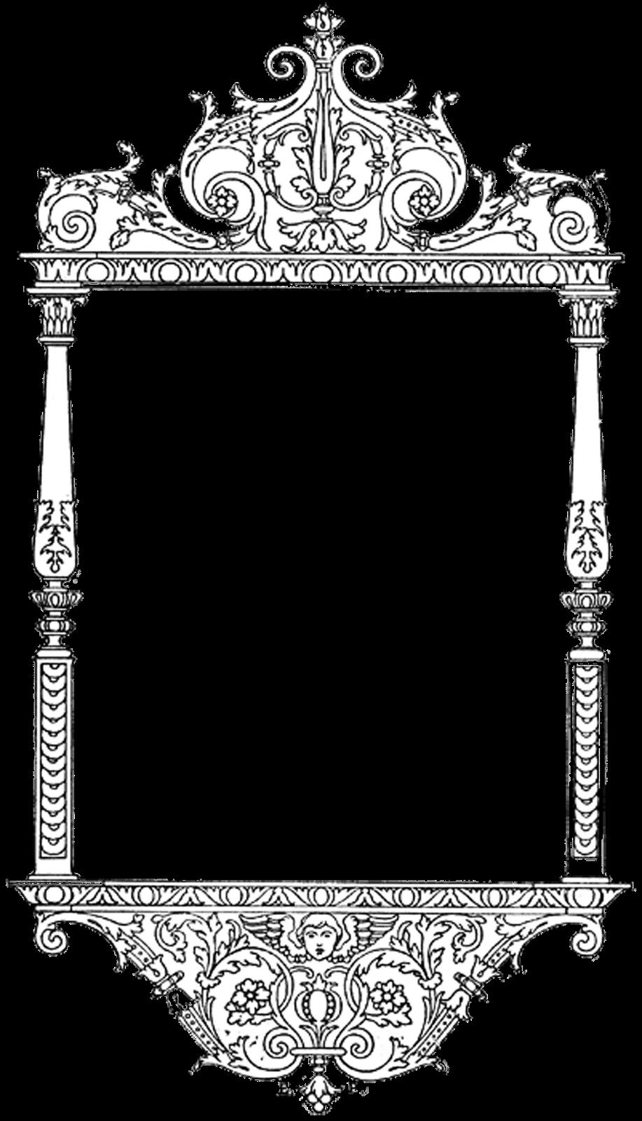 Frame svg/scroll clipart/frame svg/swirl silhouette/frame   Etsy