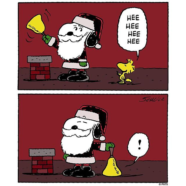 Holiday spirit with Snoopy and Woodstock