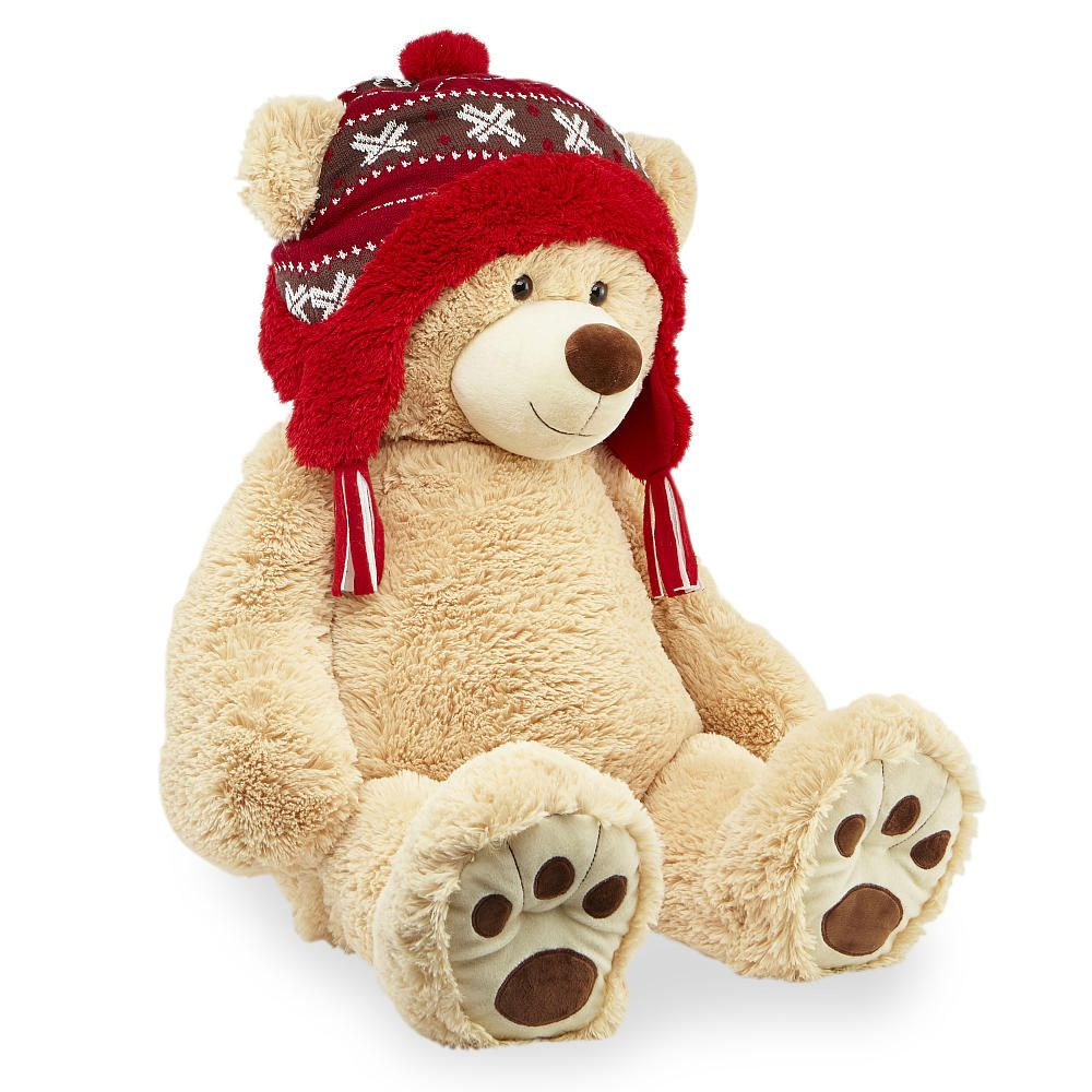 Toys Are Us Stuffed Animals : Toys r us animal alley inch winter bear with knit hat