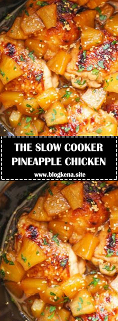 THE SLOW COOKER PINEAPPLE CHICKEN THAT YOU'LL NEVER STOP EATING - #recipes #slowcookerchicken