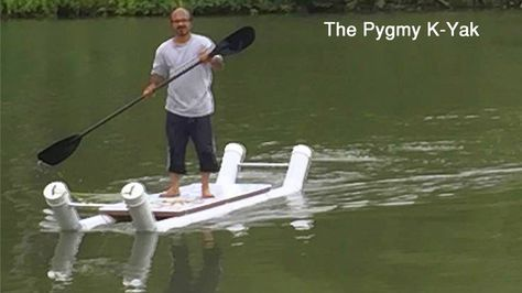 Worlds first tandem 2 seat anyone can make do it yourself the pygmyworlds first diy pvc pipe kayak jet boat build solutioingenieria Choice Image