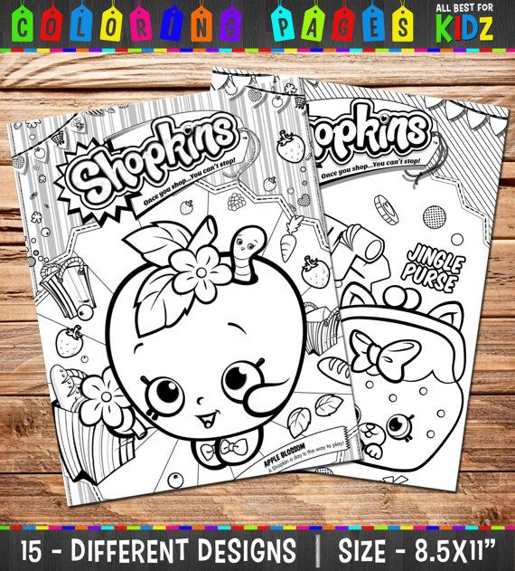Shopkins - 15 Coloring Pages / Party games - Birthday Party ...