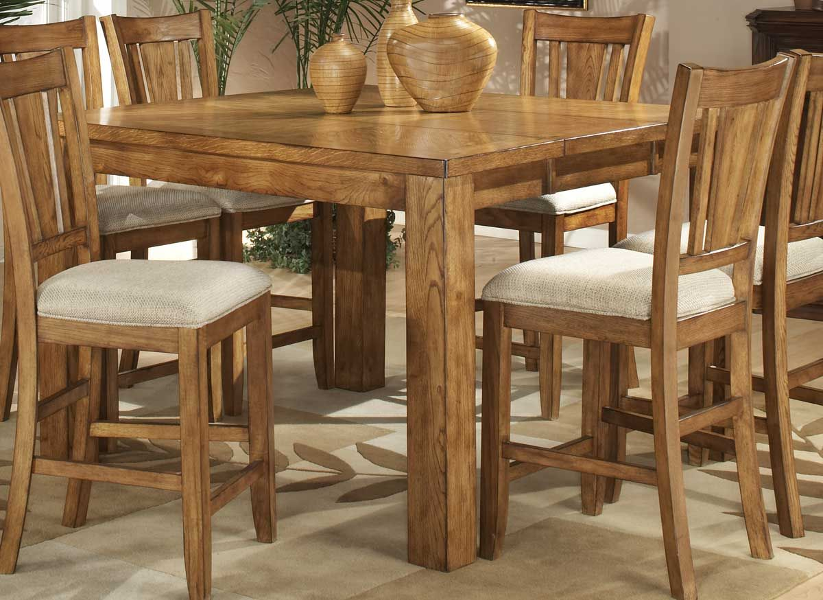 Homelegance Fusion Counter Height Table Light Oak Furniture