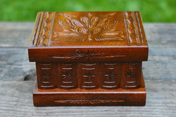 Wooden small jewelry box Souvenir gift Surprise gift box Gift for