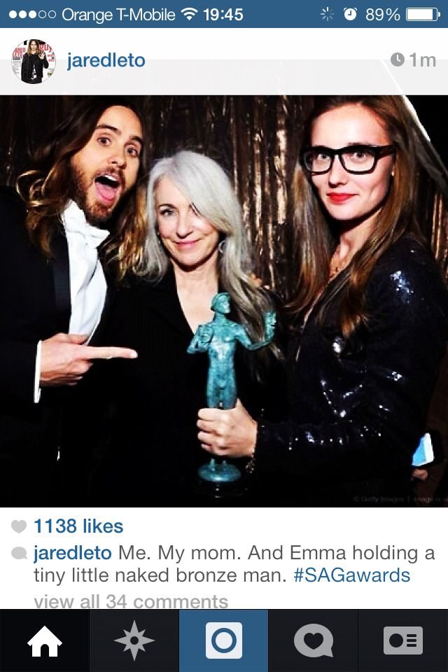 Jared Leto, mother Leto and Emma Ludbrook