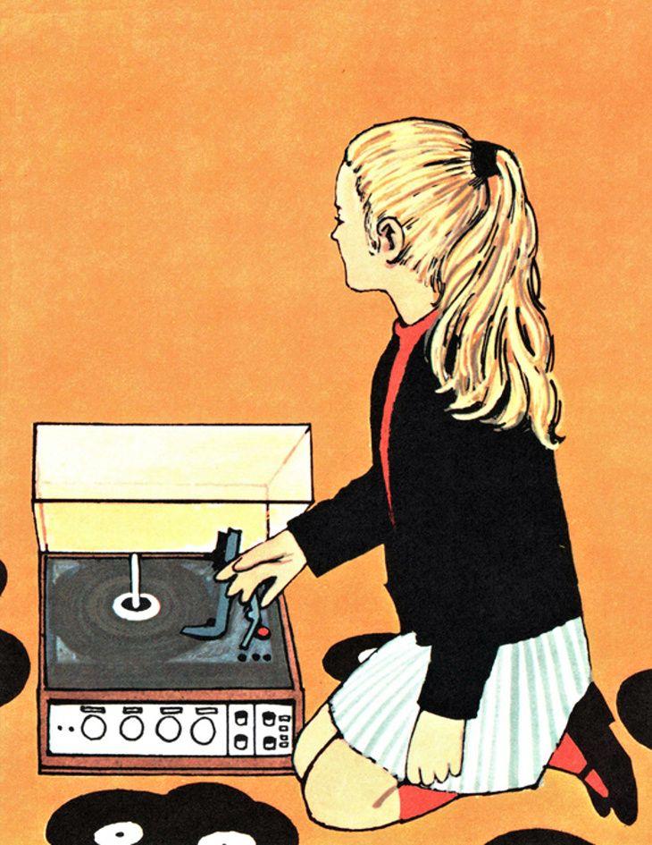 Vynil Passion Artist Music Illustration Vinyl Junkies Vinyl Art