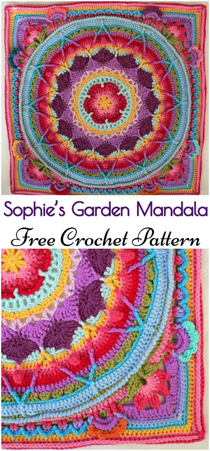 I have shared this post of 15 colorful crochet mandala patterns. Explore these patterns and crochet them for your home items to give them a stunning look.#freecrochetpatterns#crochetmadalapatterns #crochetmandalapattern
