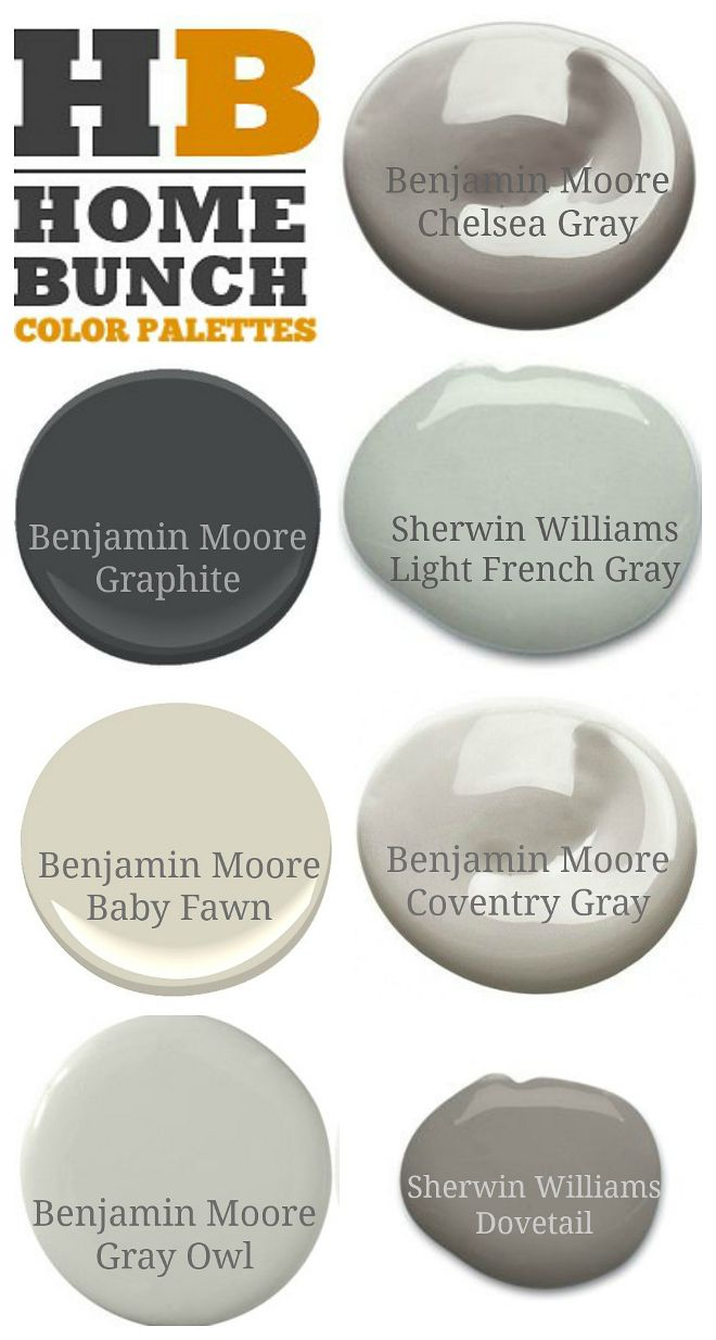 Neutral Paint Colors Recommended By Home Bunch Blog Benjamin Moore Chelsea Gray Graphite Sherwin