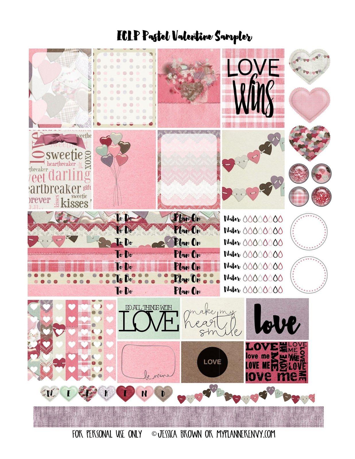 My Planner Envy: Pastel Valentine Sampler - Free Planner ...