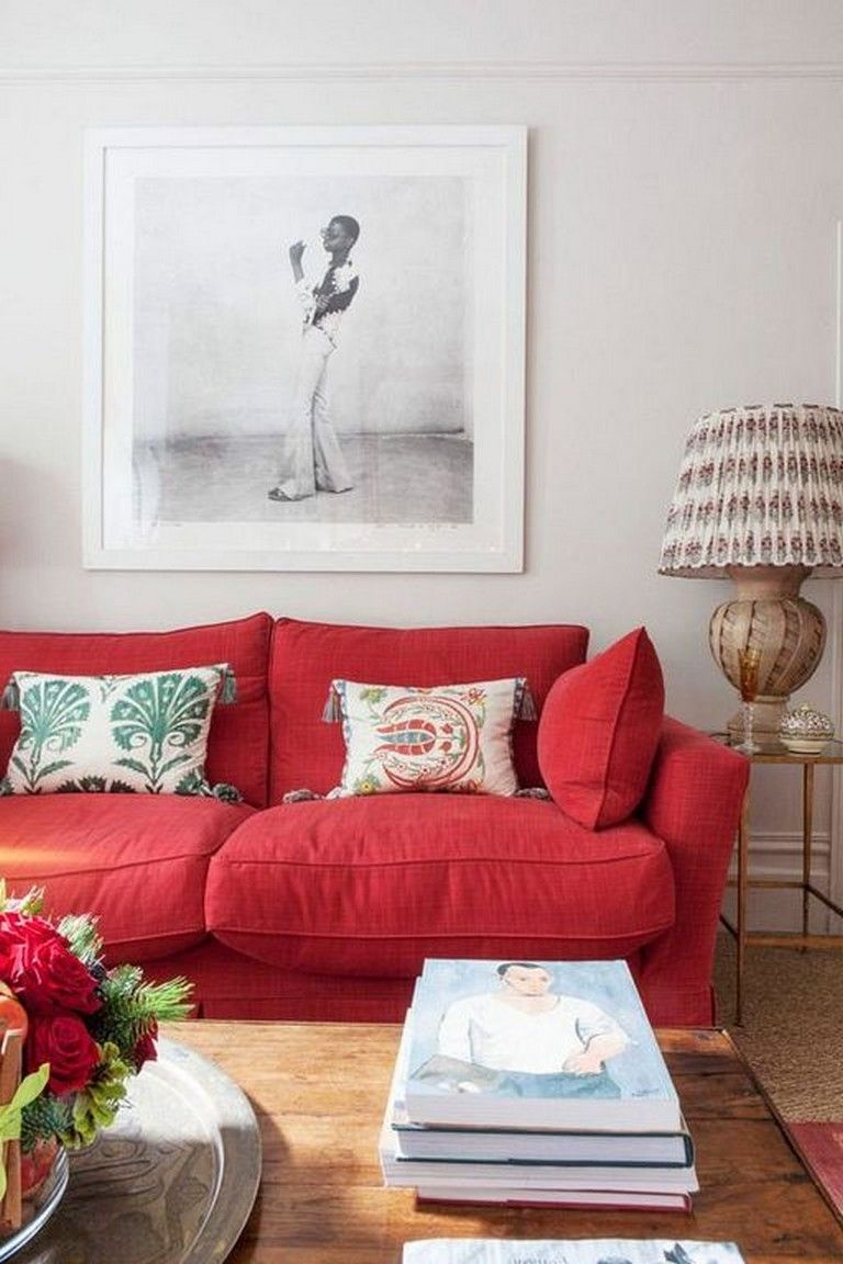 20 Cozy Modern Red Sofa Design Ideas For Living Room Page 19 Of 21 Red Sofa Living Room Red Couch Living Room Red Furniture Living Room