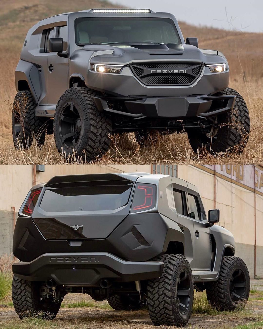 2020 Rezvani Tank X official photos Based on Jeep Wrangler, 1000 hp, ballistic p…