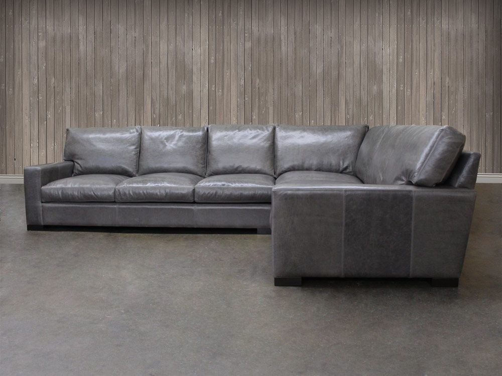 Bon Arizona Leather Sectional Sofa With Chaise   Top Grain Aniline Leather