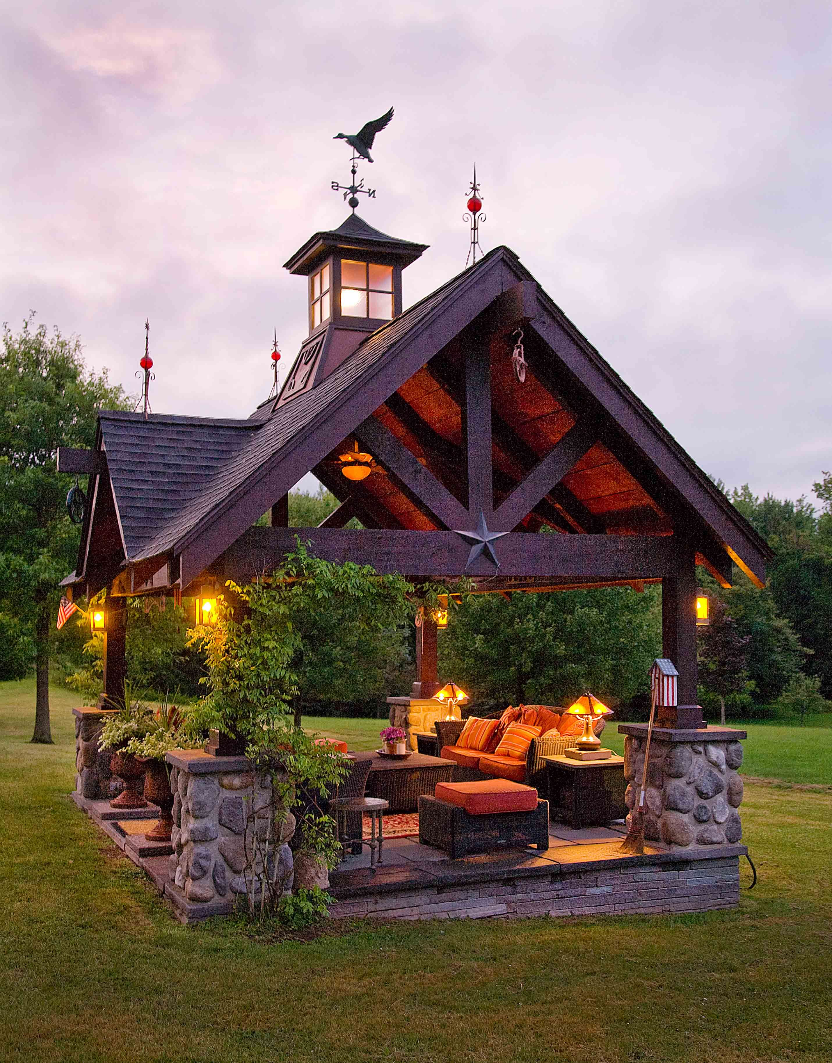 exterior of cabin use of stones a la craftsman style for the