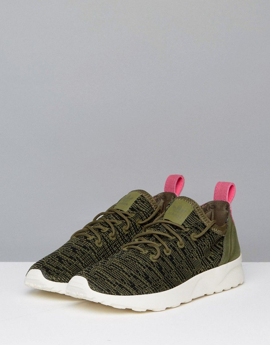 Adidas ZX Flux Virtue Sneaker Green | Products | Latest