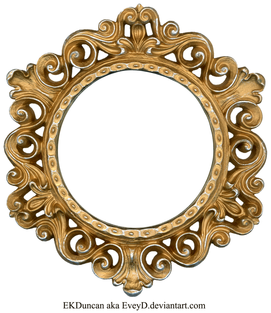 ornate gold and silver round frame by eveyddeviantartcom on deviantart