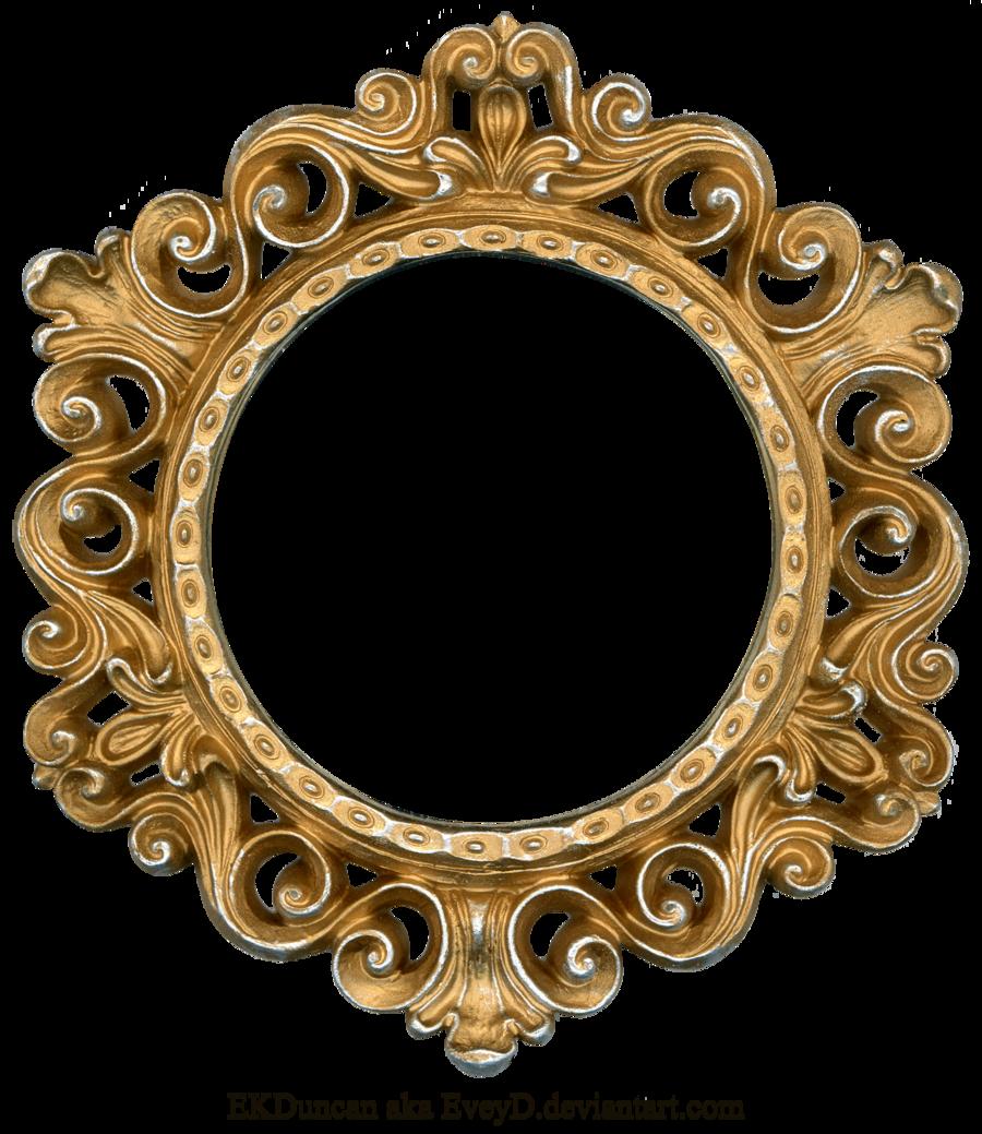 Ornate Gold And Silver Round Frame By Eveyd On Deviantart Gold Picture Frames Antique Frames Gold Frame