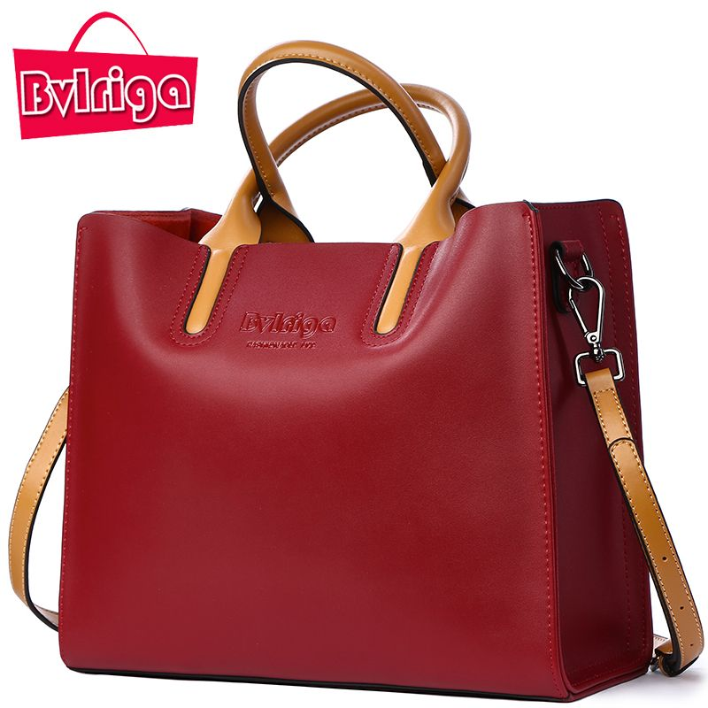 83ac642db9c Cheap genuine leather bag, Buy Quality brand tote bag directly from China designer  tote bag Suppliers  BVLRIGA Luxury Handbags Women Bags Designer Famous ...