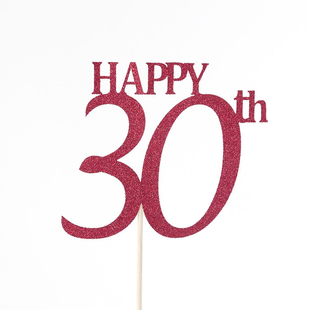 Happy 30th Birthday Cake Topper - any age available ...