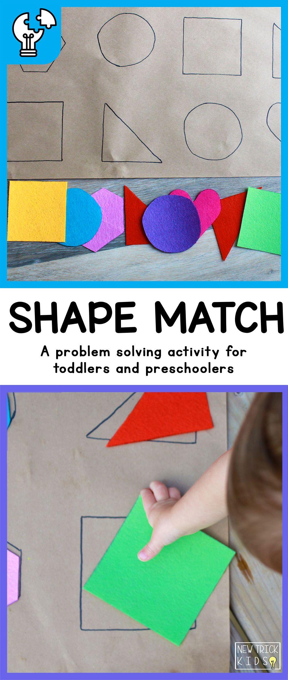 Shape Match Ages 12M + A problem solving puzzle activity ...
