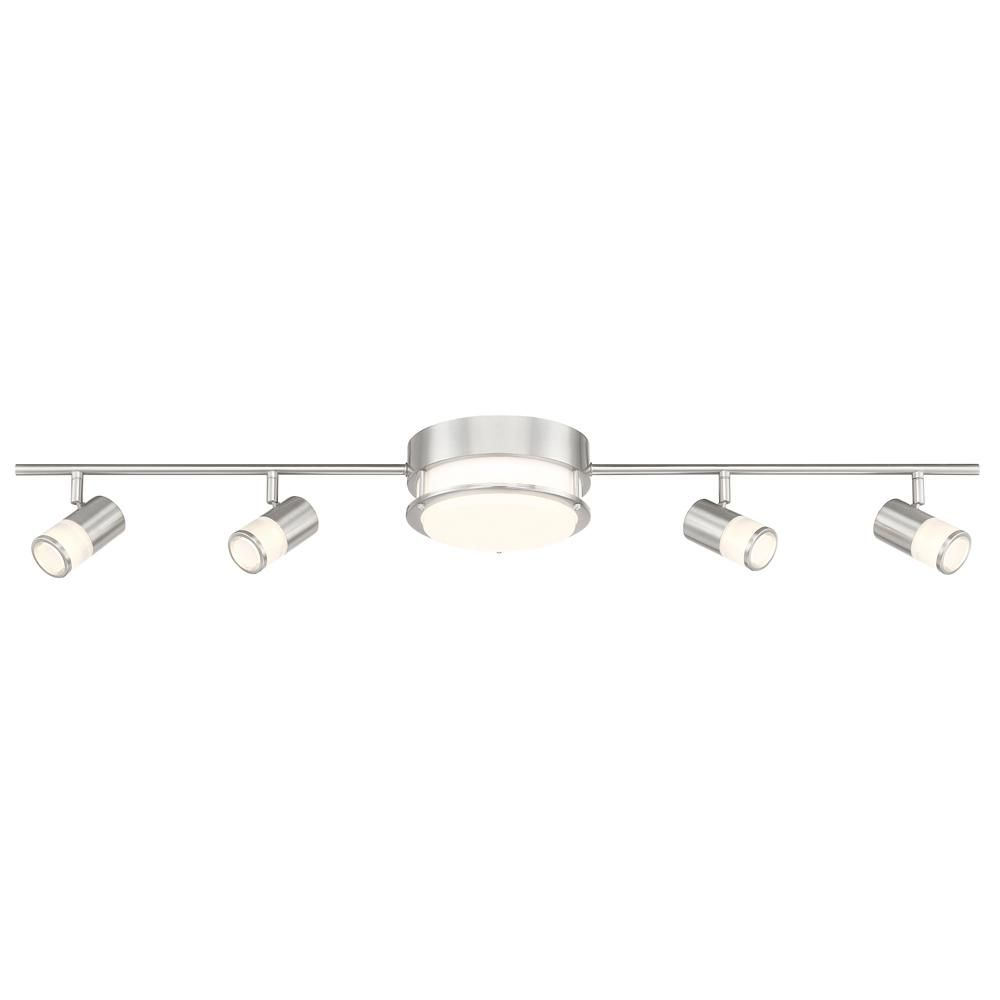 Envirolite 3 44 Ft Brushed Nickel Integrated Led Track