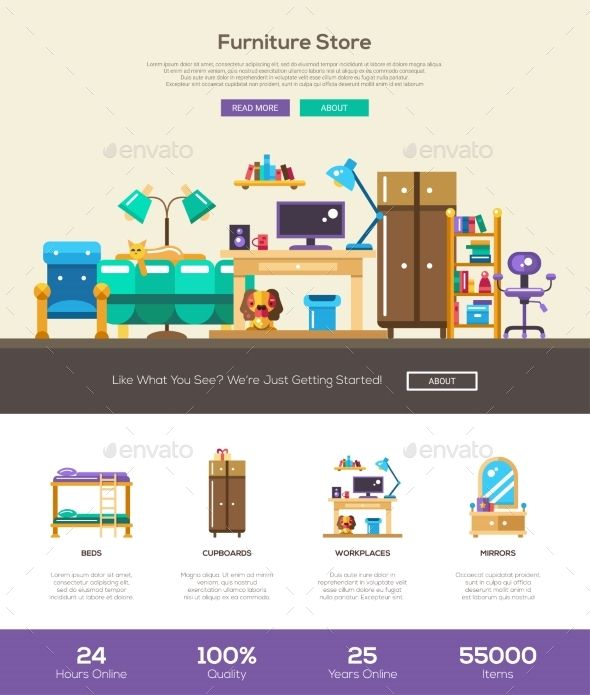 House Interior Store Website Header Banner | Website header, Header ...