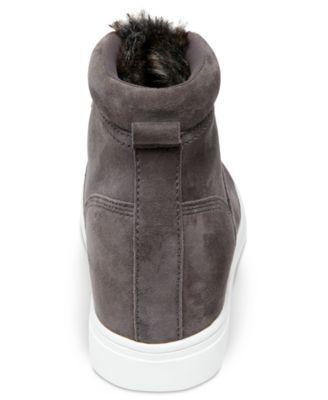 32299a50700 Steven by Steve Madden Women s Kalea Lace-Up Hiker Sneakers - Gray 6.5M