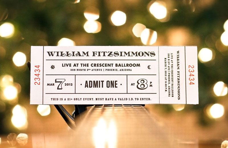 A collection of well-designed event tickets Pinterest Event - concert tickets design