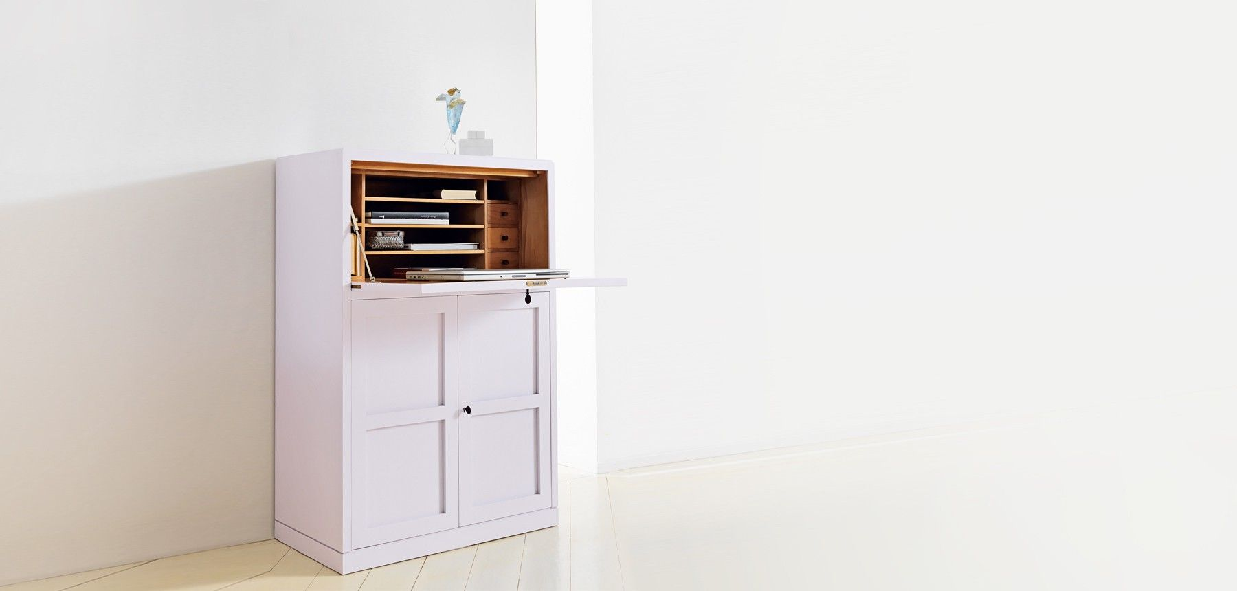 Sekretare Marktex Tall Cabinet Storage Home Decor Furniture