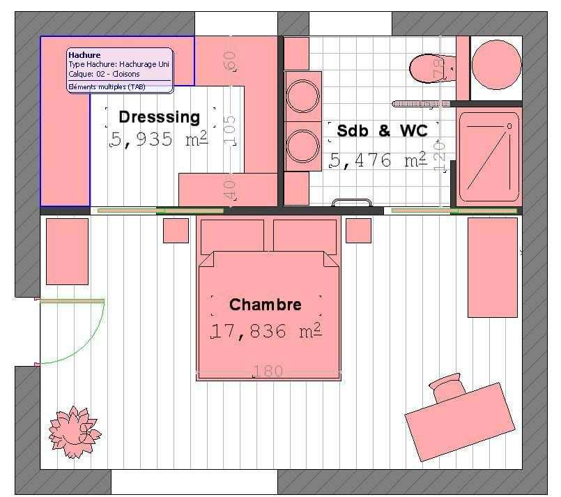 Plan Suite Parentale Avec Salle De Bain Et Dressing Plan - Chambre avec dressing et salle de bain plan