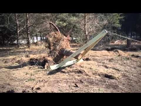 15 Pulling A Stump Using A Tractor And Mechanical Advantage