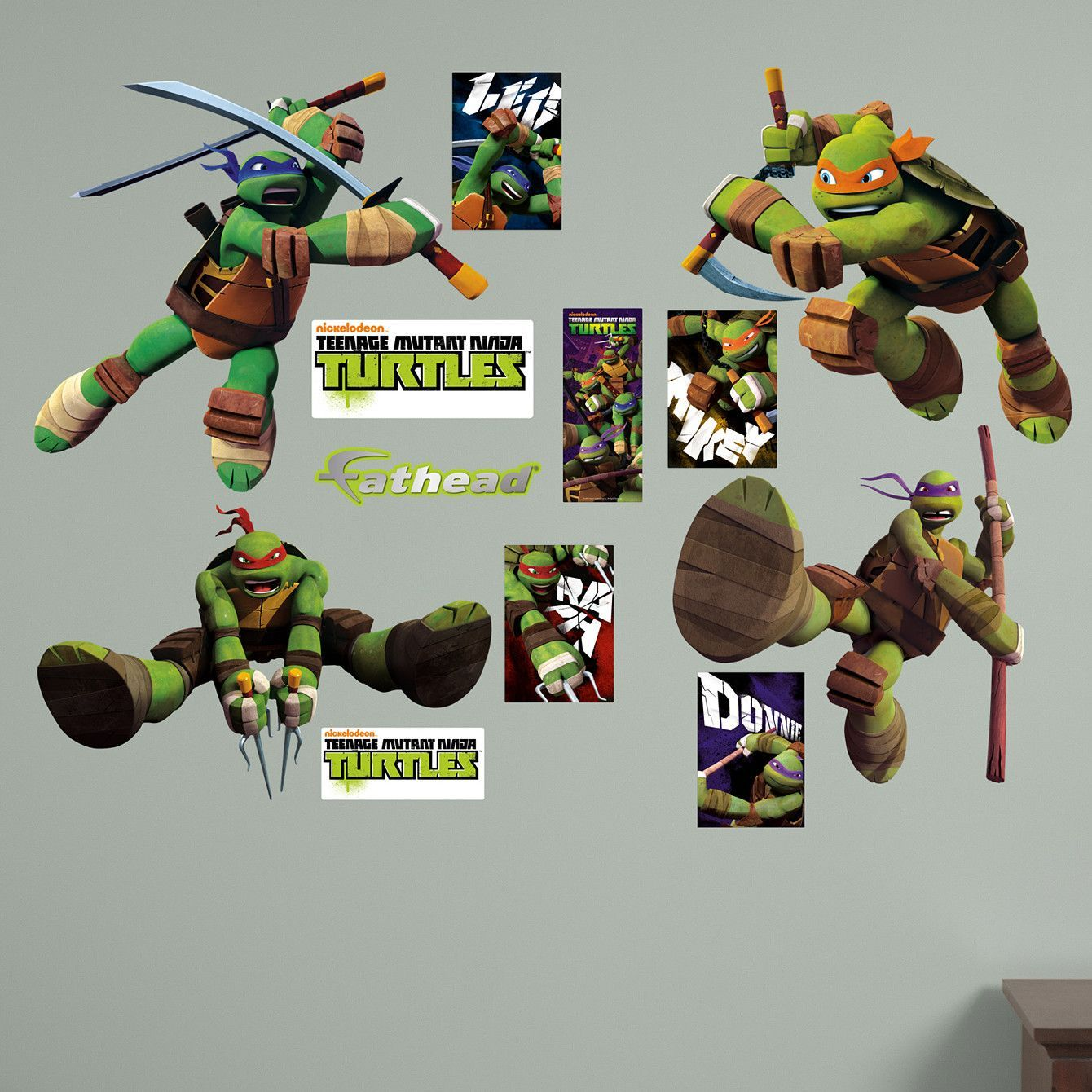 Teenage Mutant Ninja Turtles Wall Decal TMNT Teenage mutant
