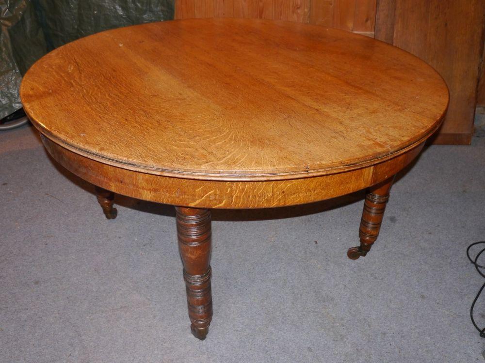 Runder Tisch Esstisch Ausziehbar Antik Eiche